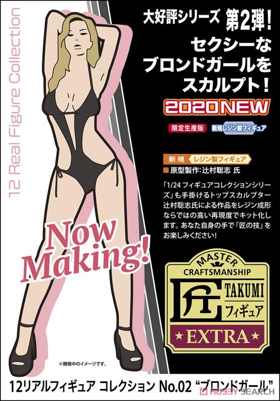12リアルフィギュア コレクション No.02『ブロンドガール』1/12 未塗装レジン製フィギュア-005