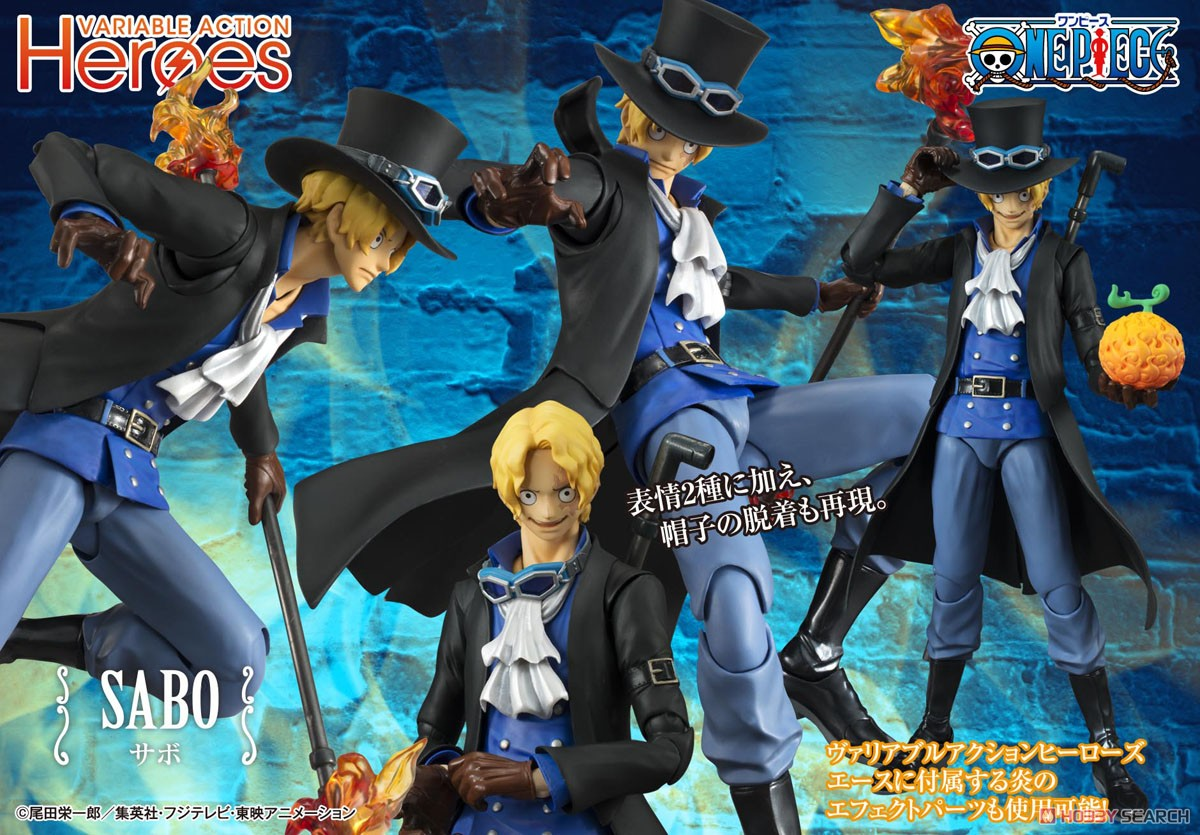 【再販】ヴァリアブルアクションヒーローズ『サボ』ONE PIECE 可動フィギュア-009