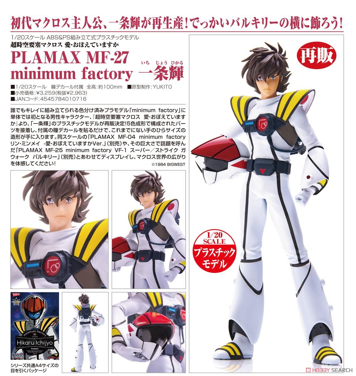 【再販】PLAMAX MF-04 minimum factory『一条輝』超時空要塞マクロス 1/20 プラモデル-012