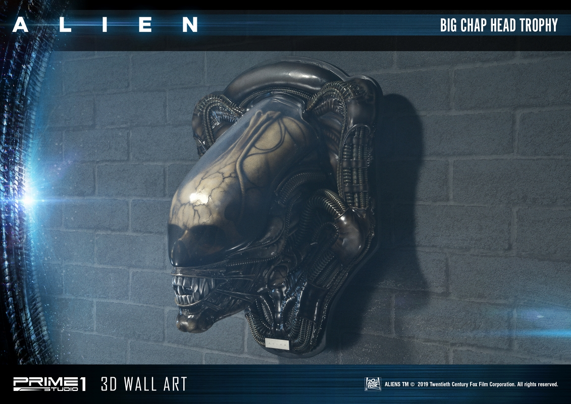 3Dウォールアート『エイリアン:ビッグチャップ』スタチュー-001
