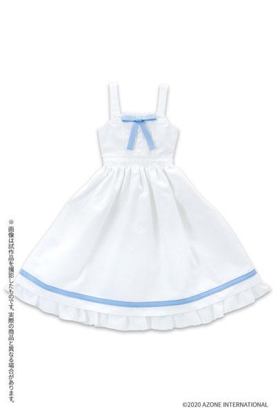 45cmコレクション『ひなたぼっこワンピース[ホワイト]』1/3 ドール服