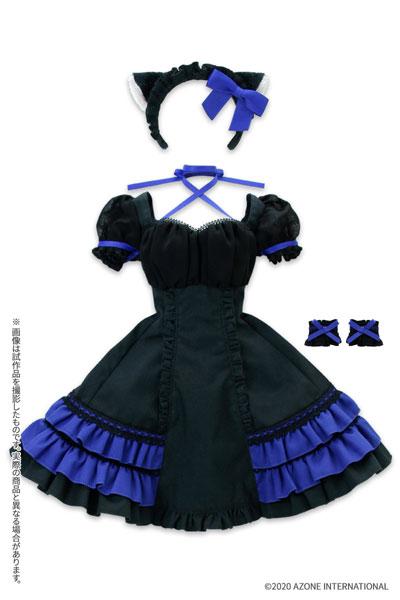 AZO2『シャットノワールドレス[ブラック×ロイヤルブルー]セット』1/3 ドール服