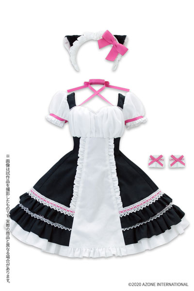 AZO2『シャットノワールドレス[ブラック×ベリーピンク]セット』1/3 ドール服