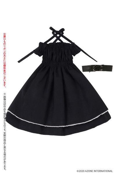 ピュアニーモ用 PNM『バストシャーリングワンピースセット[ブラック]』1/6 ドール服