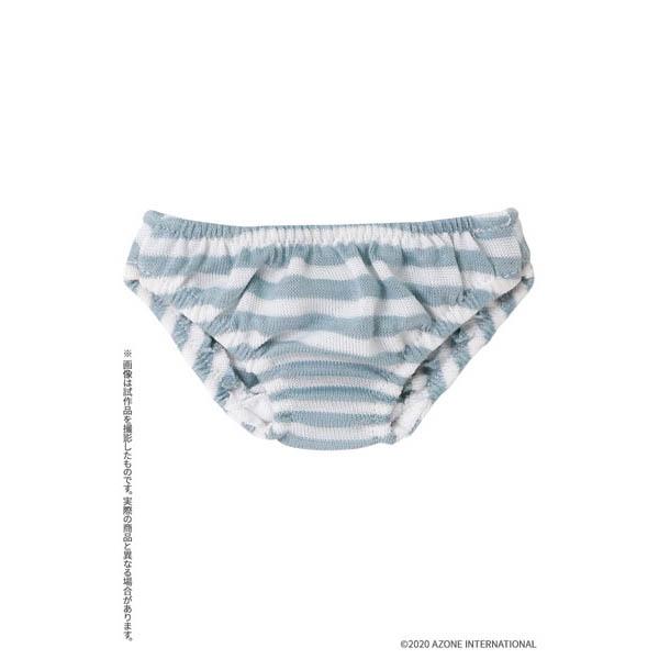 45cmコレクション『ボーダーショーツ 水色ボーダー』1/3 ドール服