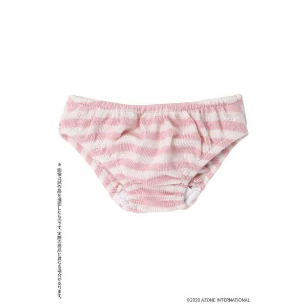 45cmコレクション『ボーダーショーツ ピンクボーダー』1/3 ドール服