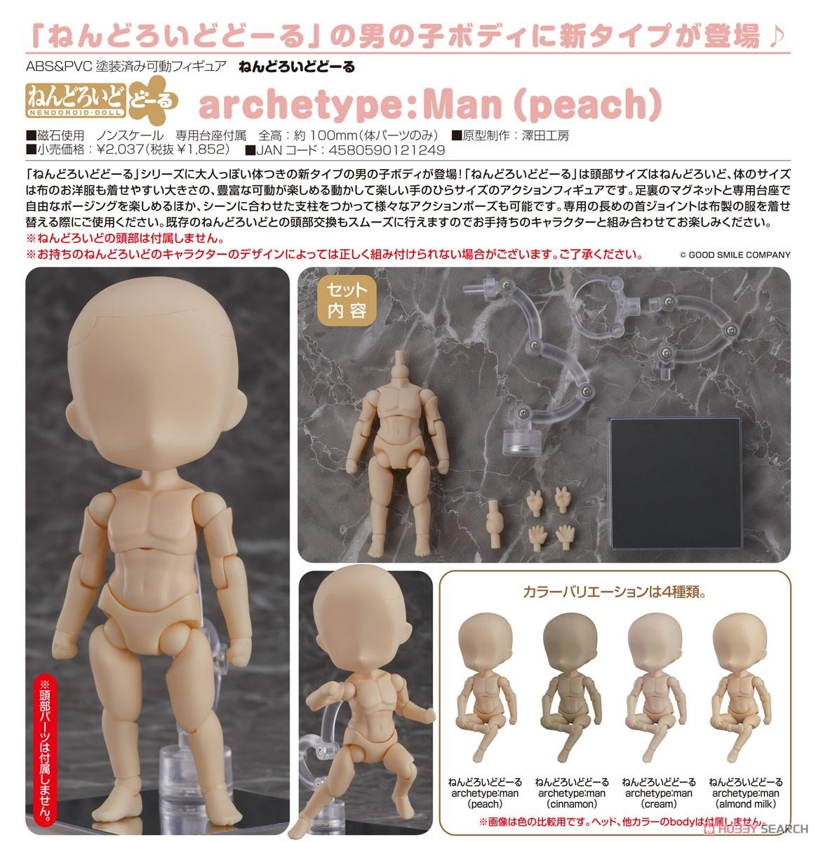 ねんどろいどどーる『archetype:Man(peach/ピーチ)』ドール素体-005