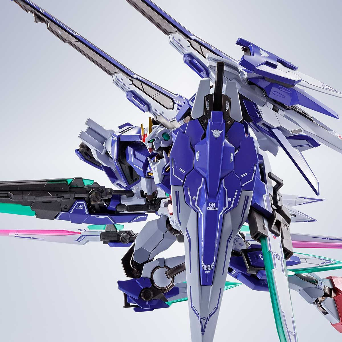 【限定販売】METAL ROBOT魂〈SIDE MS〉『ダブルオーザンライザーセブンソード+GNソードIIブラスター』ガンダム00 可動フィギュア-001