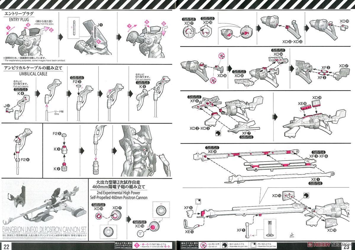 【再販】RG『汎用ヒト型決戦兵器 人造人間エヴァンゲリオン試作零号機DX 陽電子砲セット』プラモデル-036