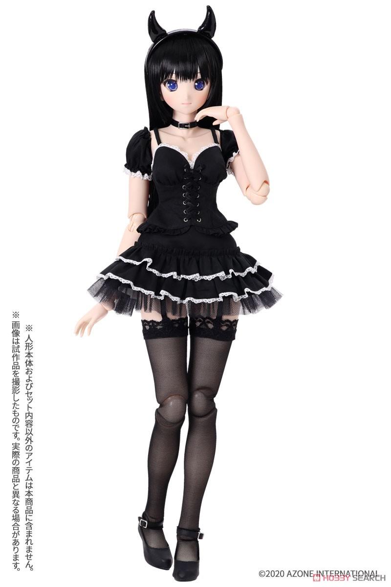 AZO2『小悪魔コスチュームsetII[ブラック]セット』1/3 ドール服-002