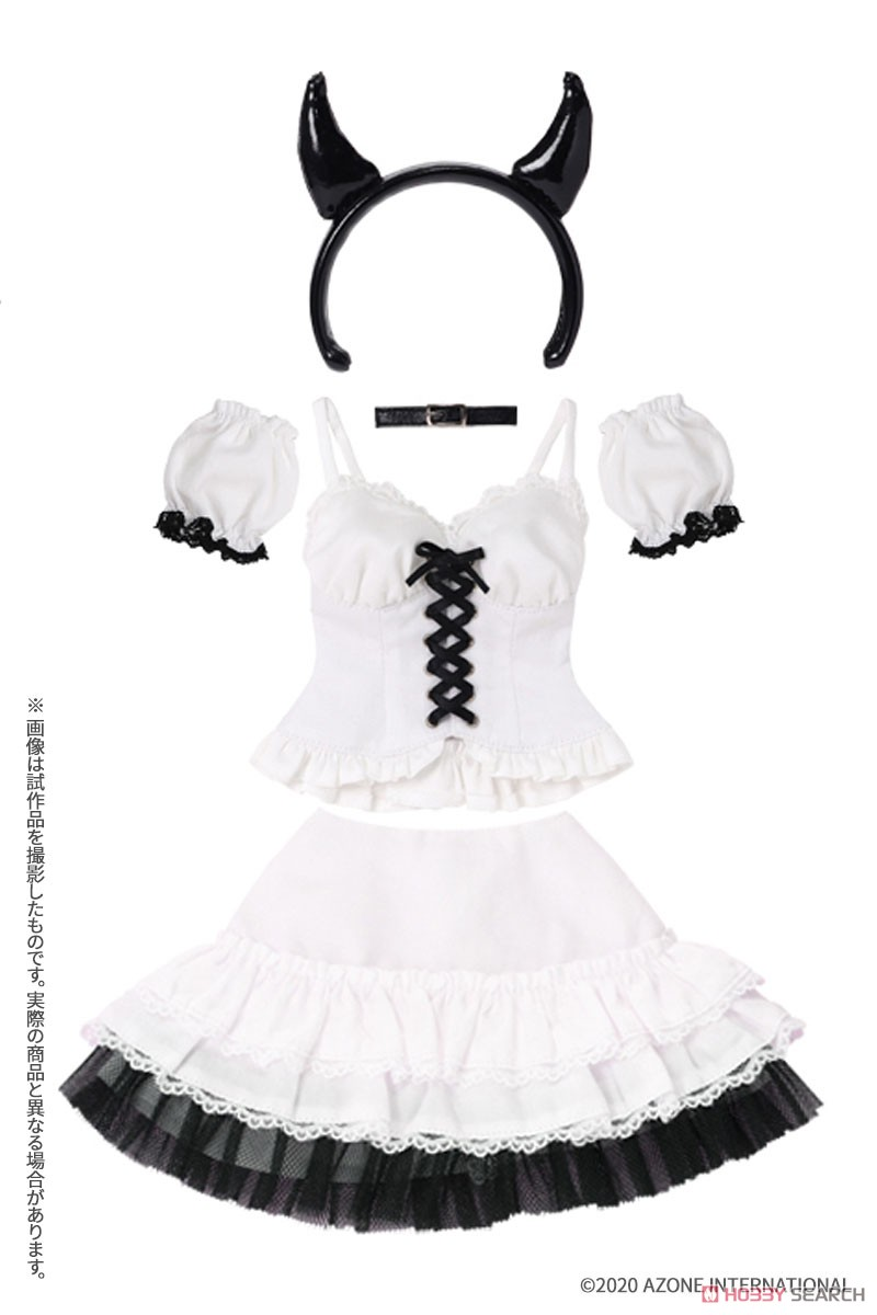 AZO2『小悪魔コスチュームsetII[ブラック]セット』1/3 ドール服-003