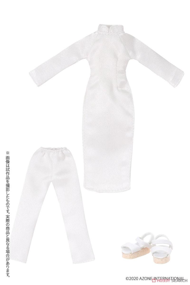 ピコニーモサイズ コスチューム『アオザイセット[ブルー]』1/12 ドール服-005