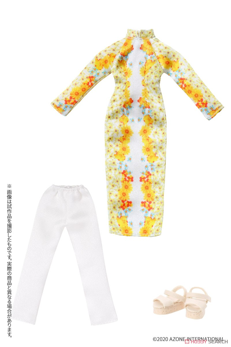 ピコニーモサイズ コスチューム『アオザイセット[ブルー]』1/12 ドール服-007