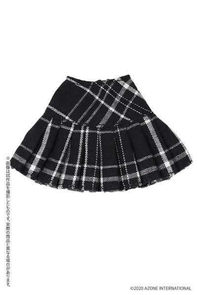 ピコニーモサイズ コスチューム『チェックプリーツスカート[ブラックチェック]』1/12 ドール服