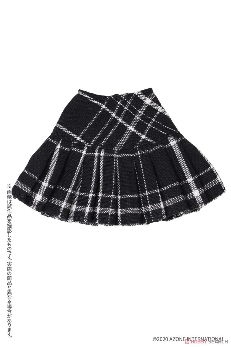 ピコニーモサイズ コスチューム『チェックプリーツスカート[ブラックチェック]』1/12 ドール服-001