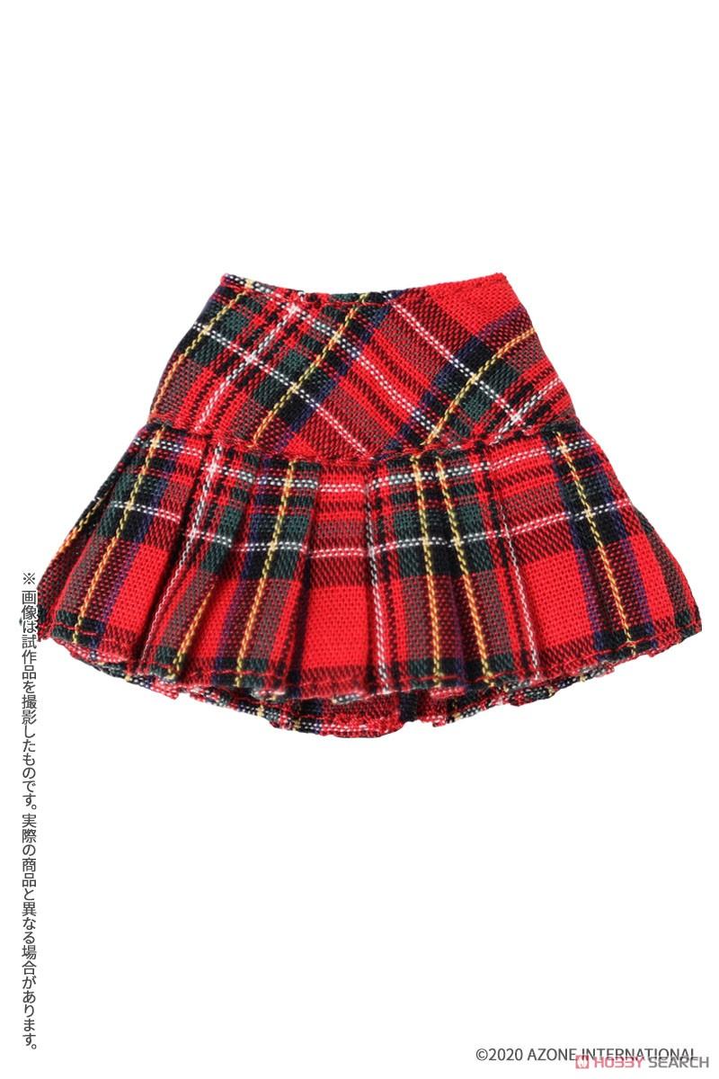 ピコニーモサイズ コスチューム『チェックプリーツスカート[ブラックチェック]』1/12 ドール服-003