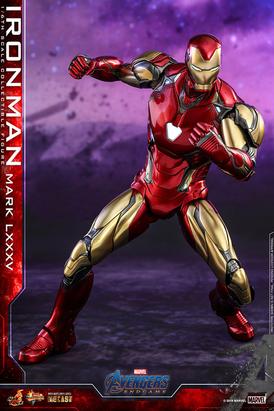 【再入荷】ムービー・マスターピース DIECAST『アイアンマン マーク85』アベンジャーズ/エンドゲーム 1/6 可動フィギュア-005