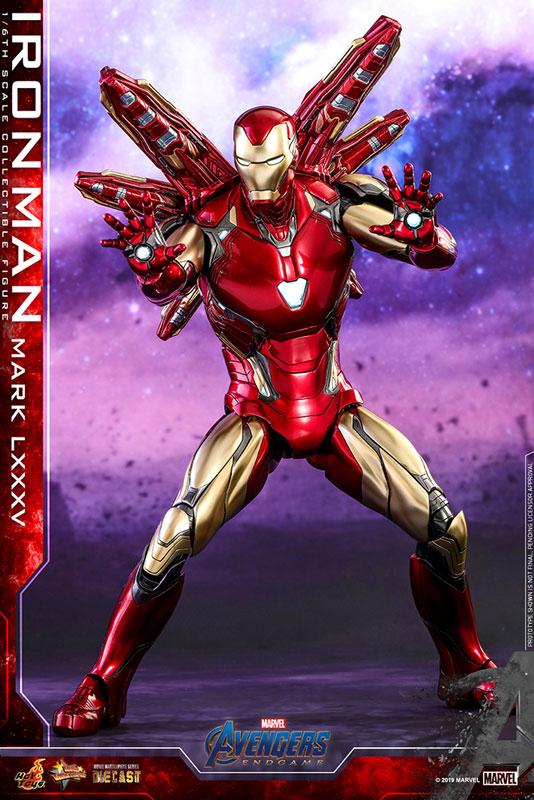 【再入荷】ムービー・マスターピース DIECAST『アイアンマン マーク85』アベンジャーズ/エンドゲーム 1/6 可動フィギュア-009
