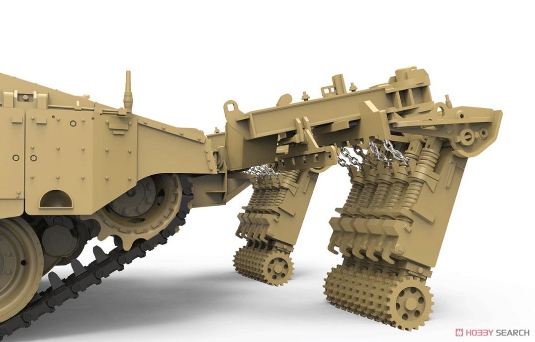 1/35『イスラエル主力戦車 メルカバMk.4/4 LIC Nochri-Kal 地雷処理システム搭載』プラモデル-002