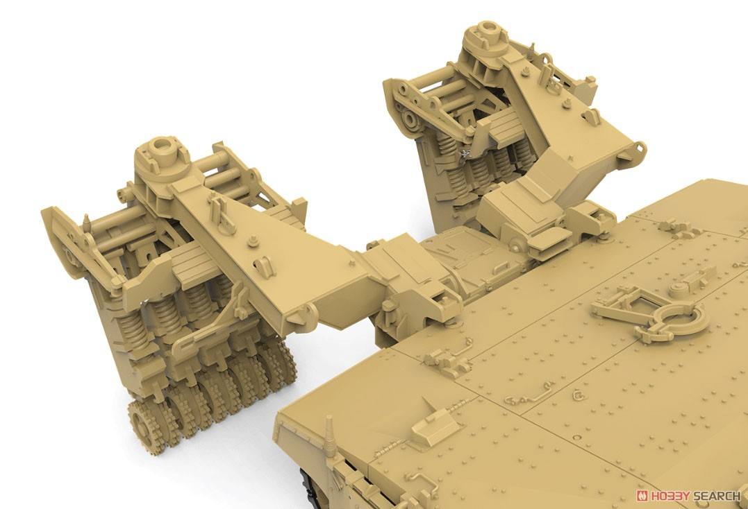 1/35『イスラエル主力戦車 メルカバMk.4/4 LIC Nochri-Kal 地雷処理システム搭載』プラモデル-003