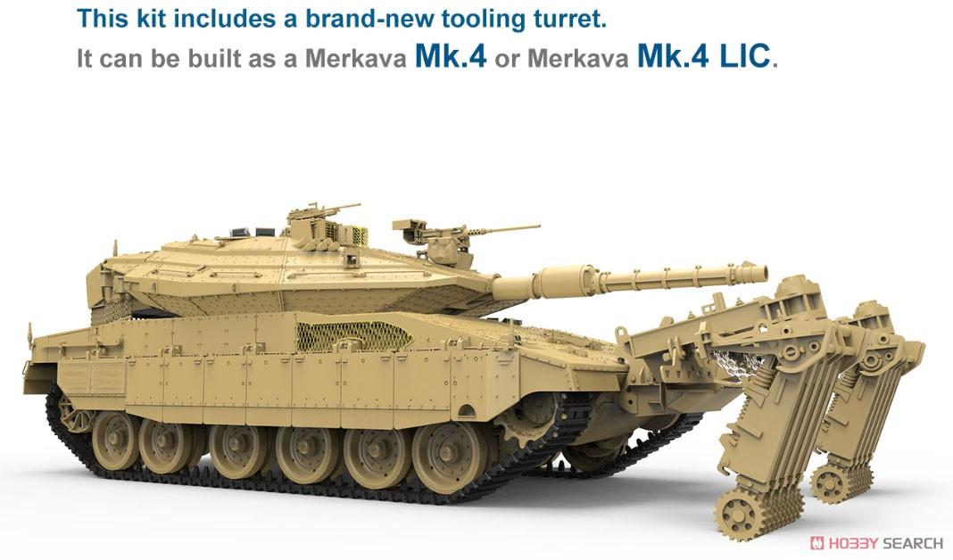 1/35『イスラエル主力戦車 メルカバMk.4/4 LIC Nochri-Kal 地雷処理システム搭載』プラモデル-005