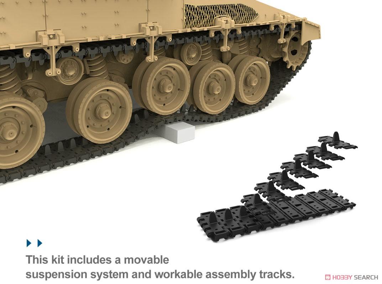 1/35『イスラエル主力戦車 メルカバMk.4/4 LIC Nochri-Kal 地雷処理システム搭載』プラモデル-006