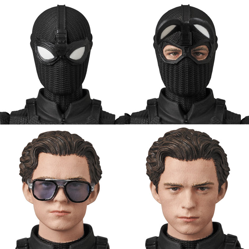 マフェックス No.125 MAFEX『スパイダーマン ステルススーツ/SPIDER-MAN Stealth Suit』可動フィギュア-003