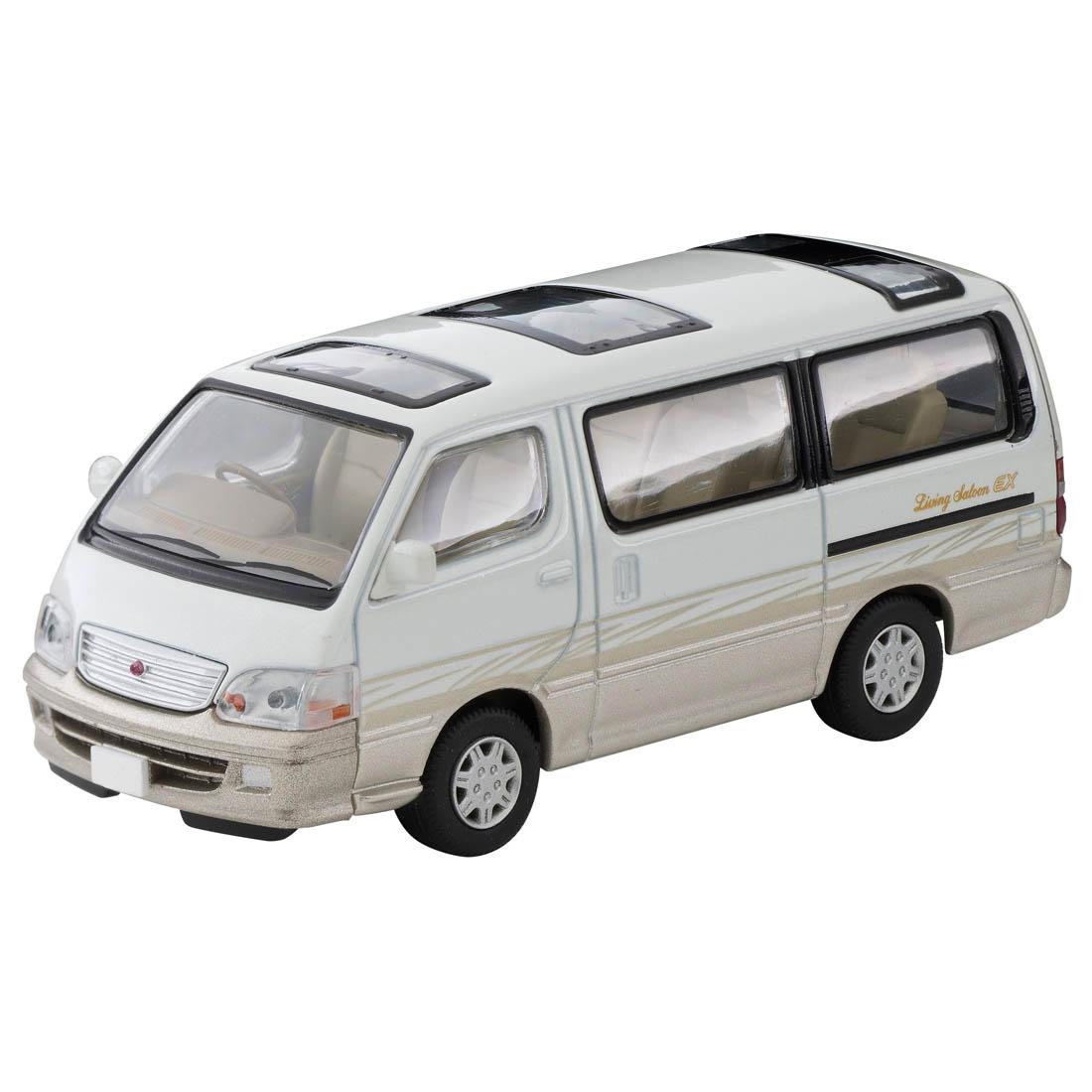 トミカリミテッド ヴィンテージ ネオ TLV-NEO『LV-N216a ハイエースワゴン リビングサルーン EX(白/ベージュ)』1/64 ミニカー-001