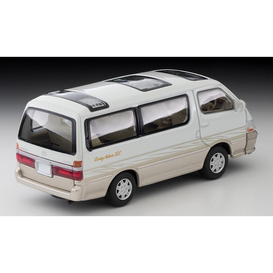 トミカリミテッド ヴィンテージ ネオ TLV-NEO『LV-N216a ハイエースワゴン リビングサルーン EX(白/ベージュ)』1/64 ミニカー-002