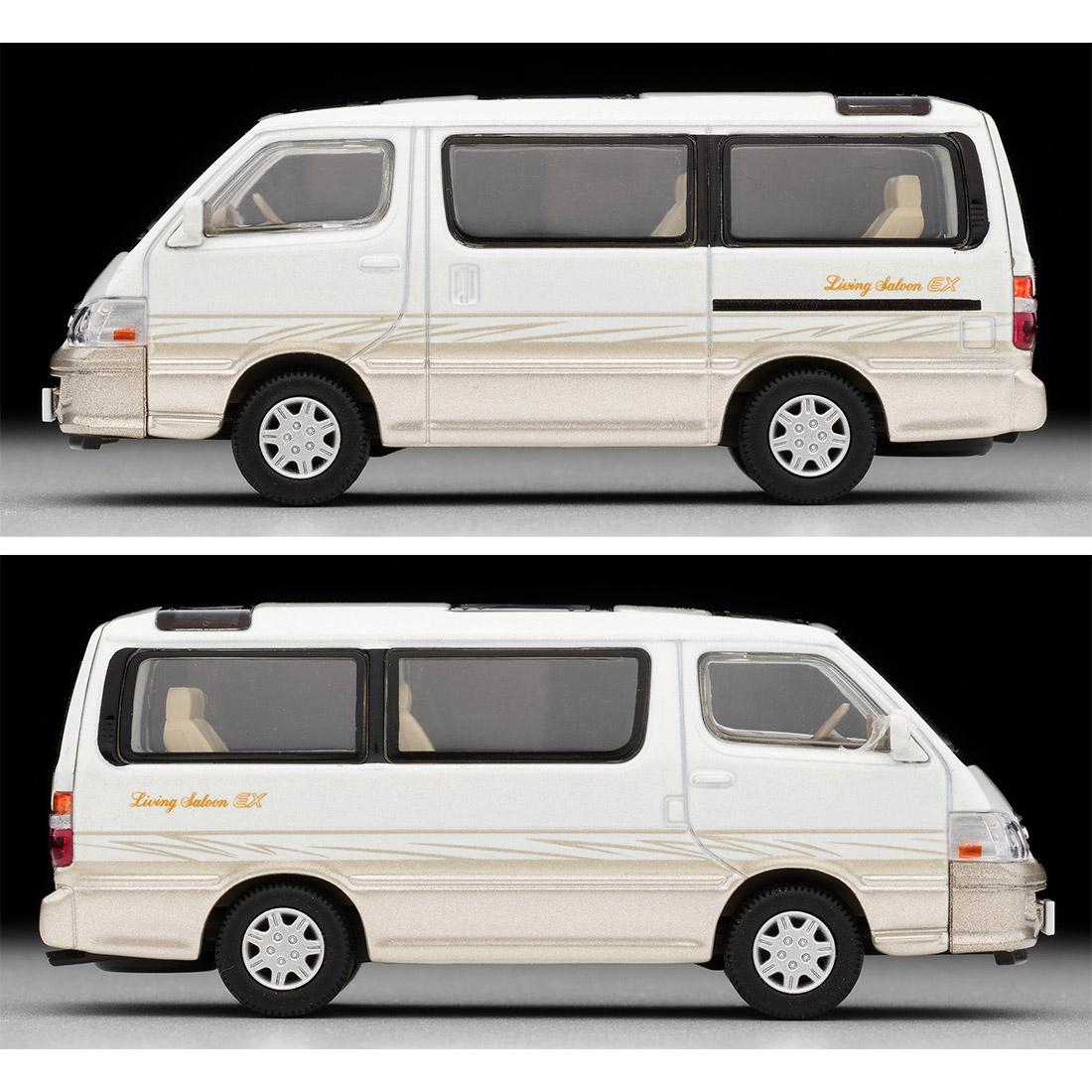 トミカリミテッド ヴィンテージ ネオ TLV-NEO『LV-N216a ハイエースワゴン リビングサルーン EX(白/ベージュ)』1/64 ミニカー-005