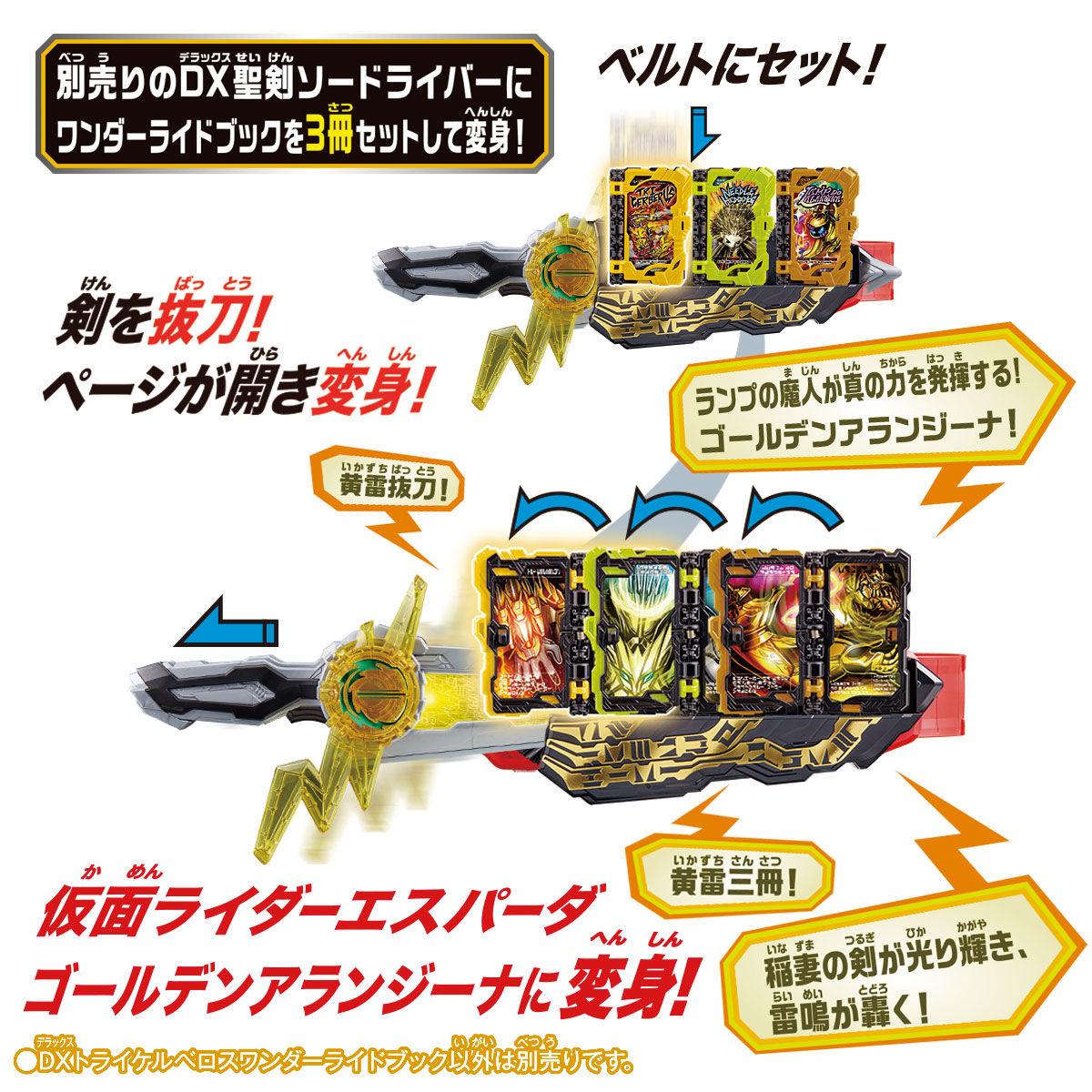 仮面ライダーセイバー『DXトライケルベロスワンダーライドブック』変身なりきり-005