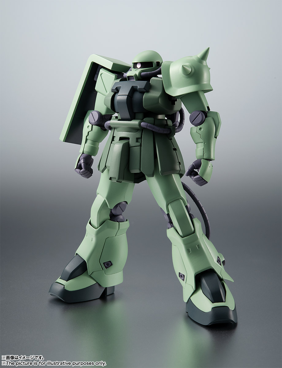 ROBOT魂〈SIDE MS〉『MS-06F-2 ザクII F2型 ver. A.N.I.M.E.』機動戦士ガンダム0083 可動フィギュア-001