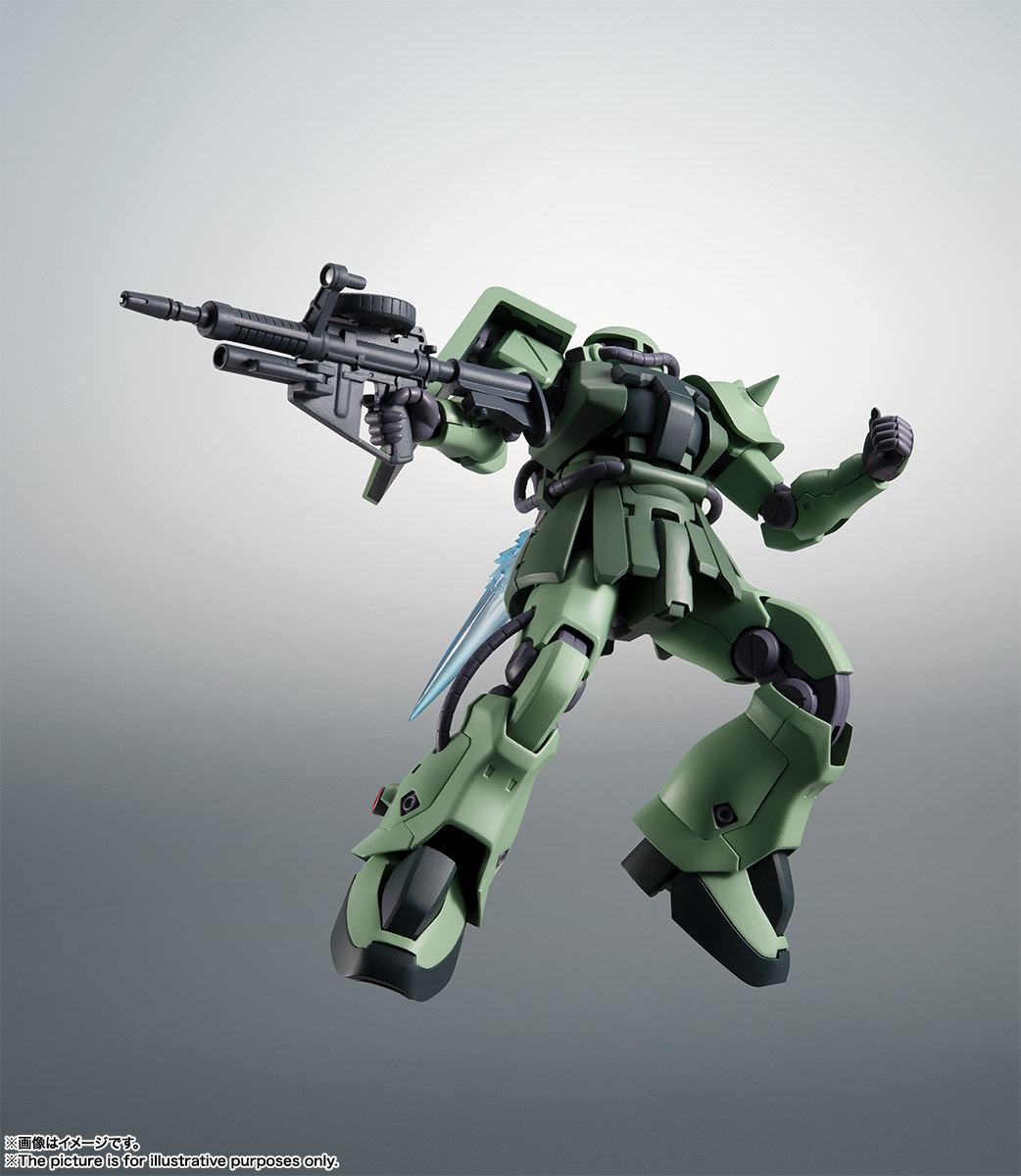 ROBOT魂〈SIDE MS〉『MS-06F-2 ザクII F2型 ver. A.N.I.M.E.』機動戦士ガンダム0083 可動フィギュア-008