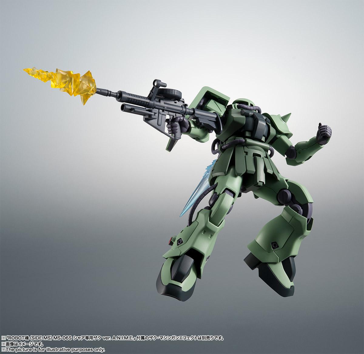 ROBOT魂〈SIDE MS〉『MS-06F-2 ザクII F2型 ver. A.N.I.M.E.』機動戦士ガンダム0083 可動フィギュア-009