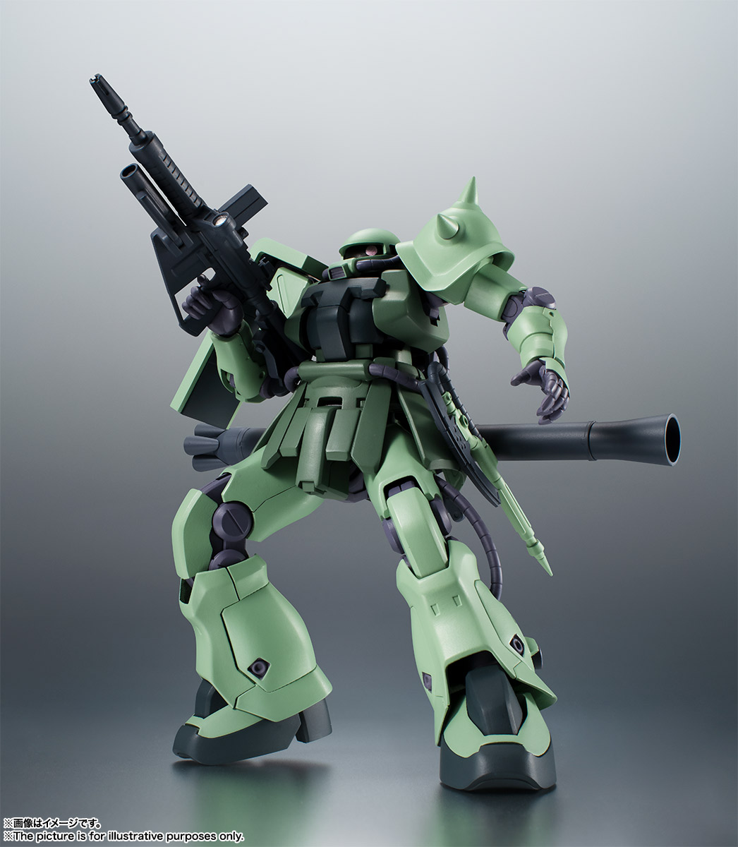 ROBOT魂〈SIDE MS〉『MS-06F-2 ザクII F2型 ver. A.N.I.M.E.』機動戦士ガンダム0083 可動フィギュア-013