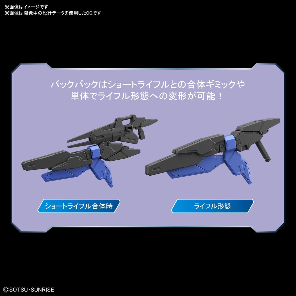 HGBD:R 1/144『ダブルオーガンダム系新機体』ガンダムビルドダイバーズRe:RISE プラモデル-005