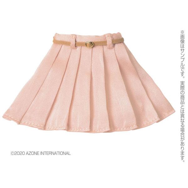 ピュアニーモ用 PNM『レザーベルトプリーツミニスカート[ピンク]』1/6 ドール服