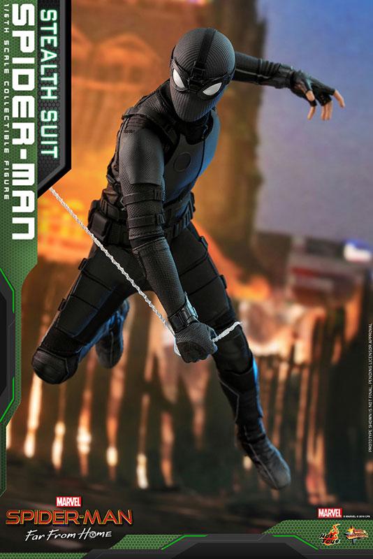 ムービー・マスターピース『スパイダーマン ステルススーツ版』Far From Home 1/6 可動フィギュア-002