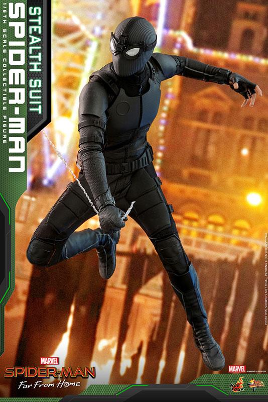 ムービー・マスターピース『スパイダーマン ステルススーツ版』Far From Home 1/6 可動フィギュア-004