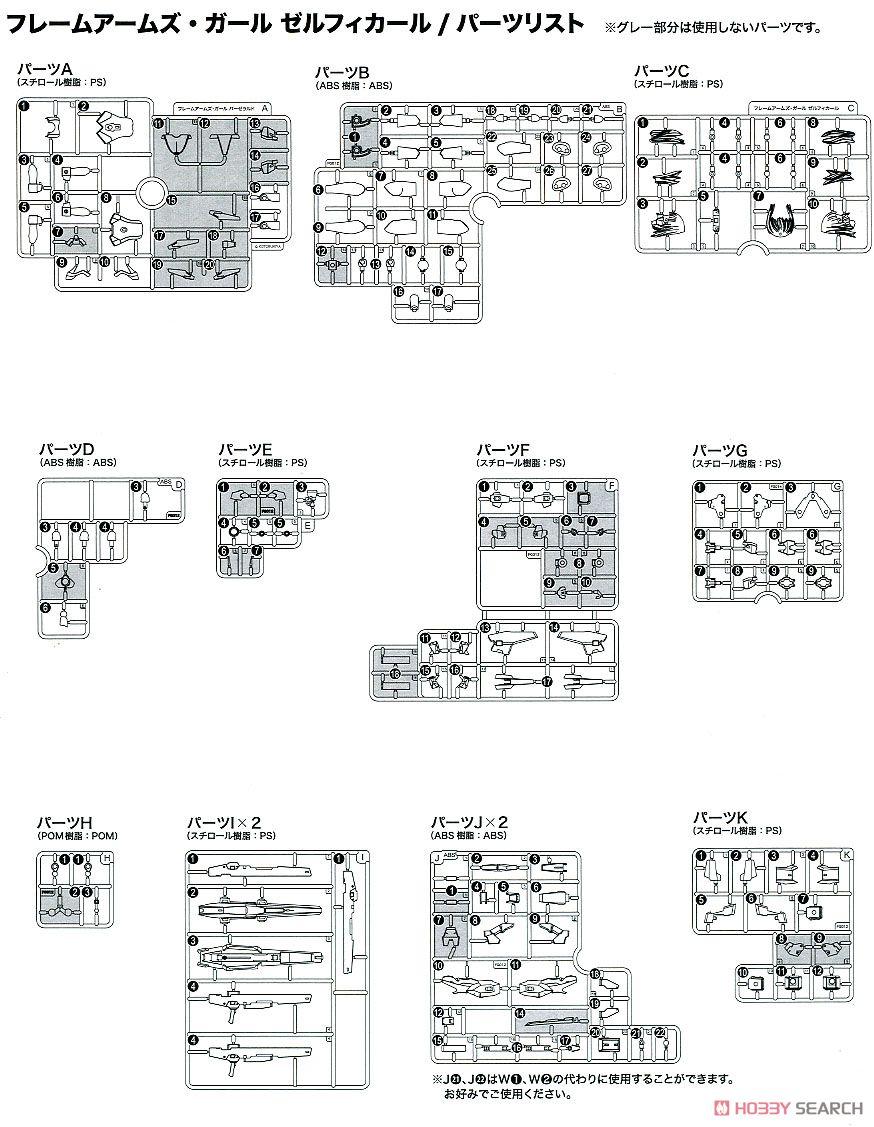 【再販】フレームアームズ・ガール『ゼルフィカール』プラモデル-036