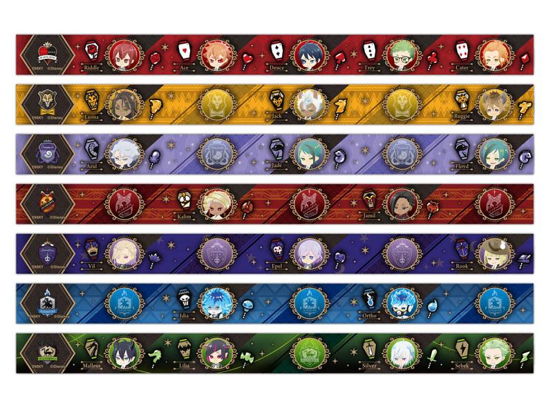 ツイステ『ディズニー ツイステッドワンダーランド マスキングテープコレクション』7個入りBOX-001