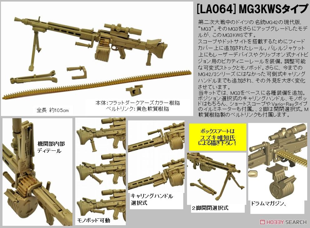 リトルアーモリー LA064『MG3KWSタイプ』1/12 プラモデル-014