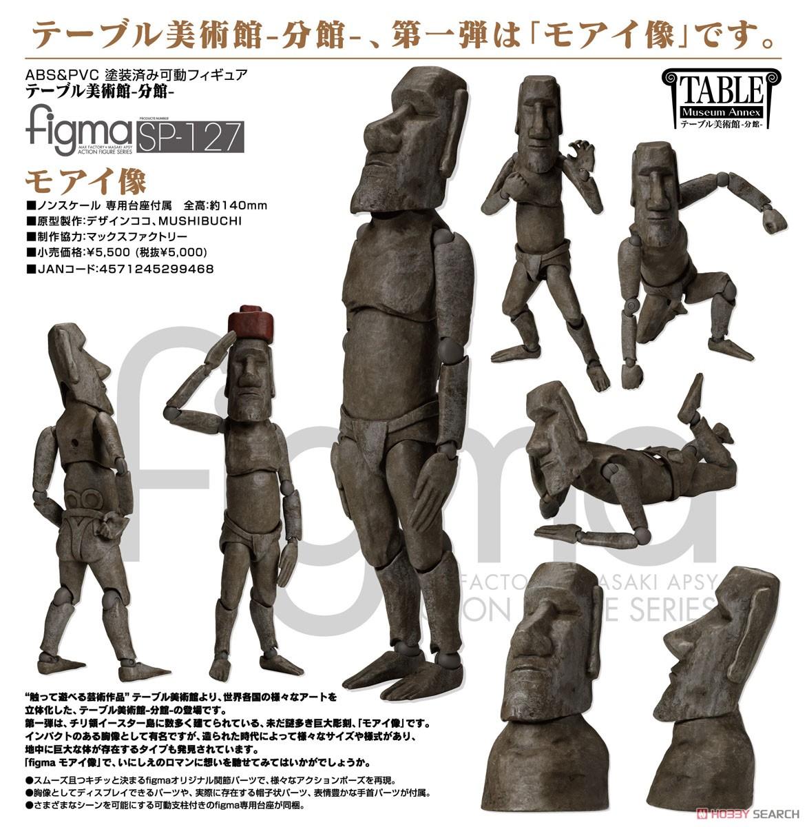figma テーブル美術館-分館-『モアイ像』可動フィギュア-009