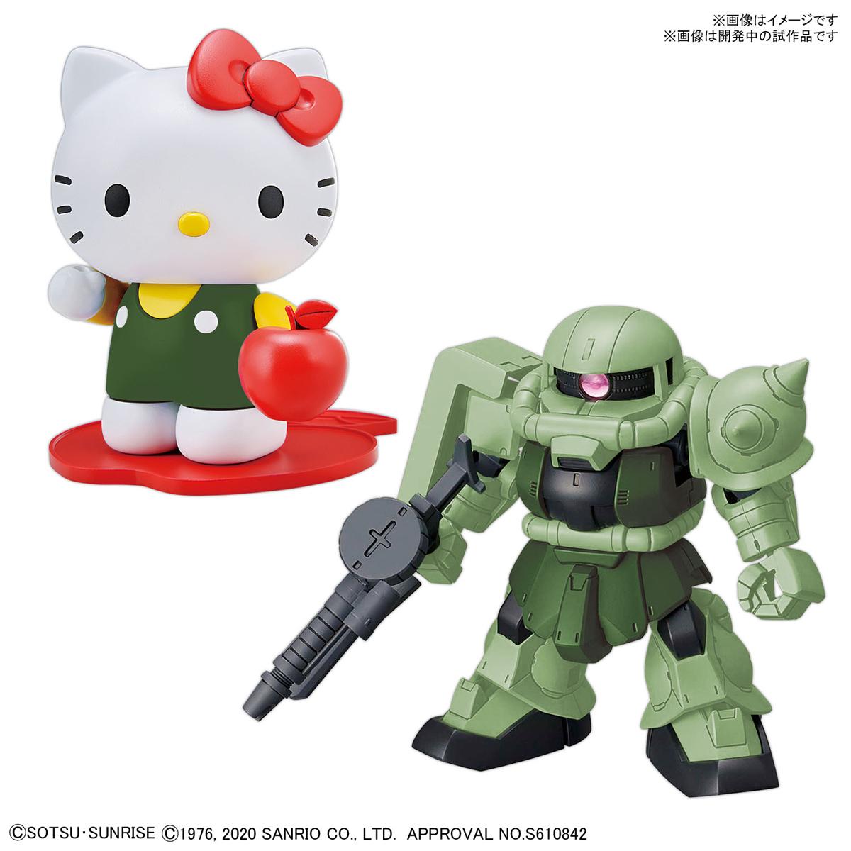 SDガンダム クロスシルエット『ハローキティ / シャア専用ザクII』プラモデル-004