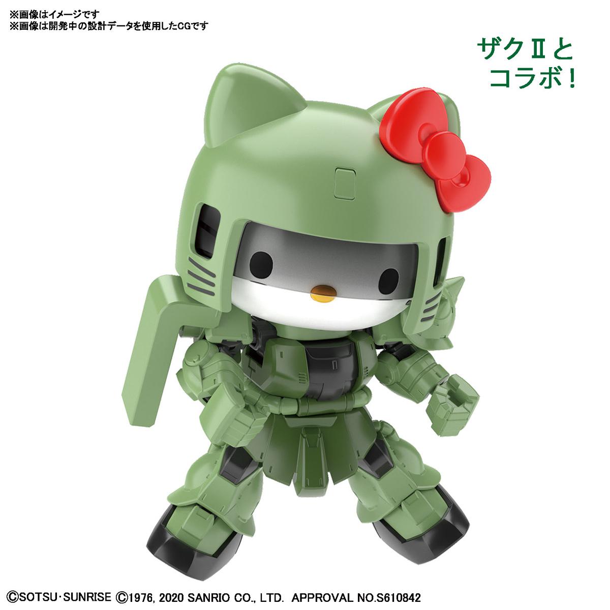 SDガンダム クロスシルエット『ハローキティ / シャア専用ザクII』プラモデル-006