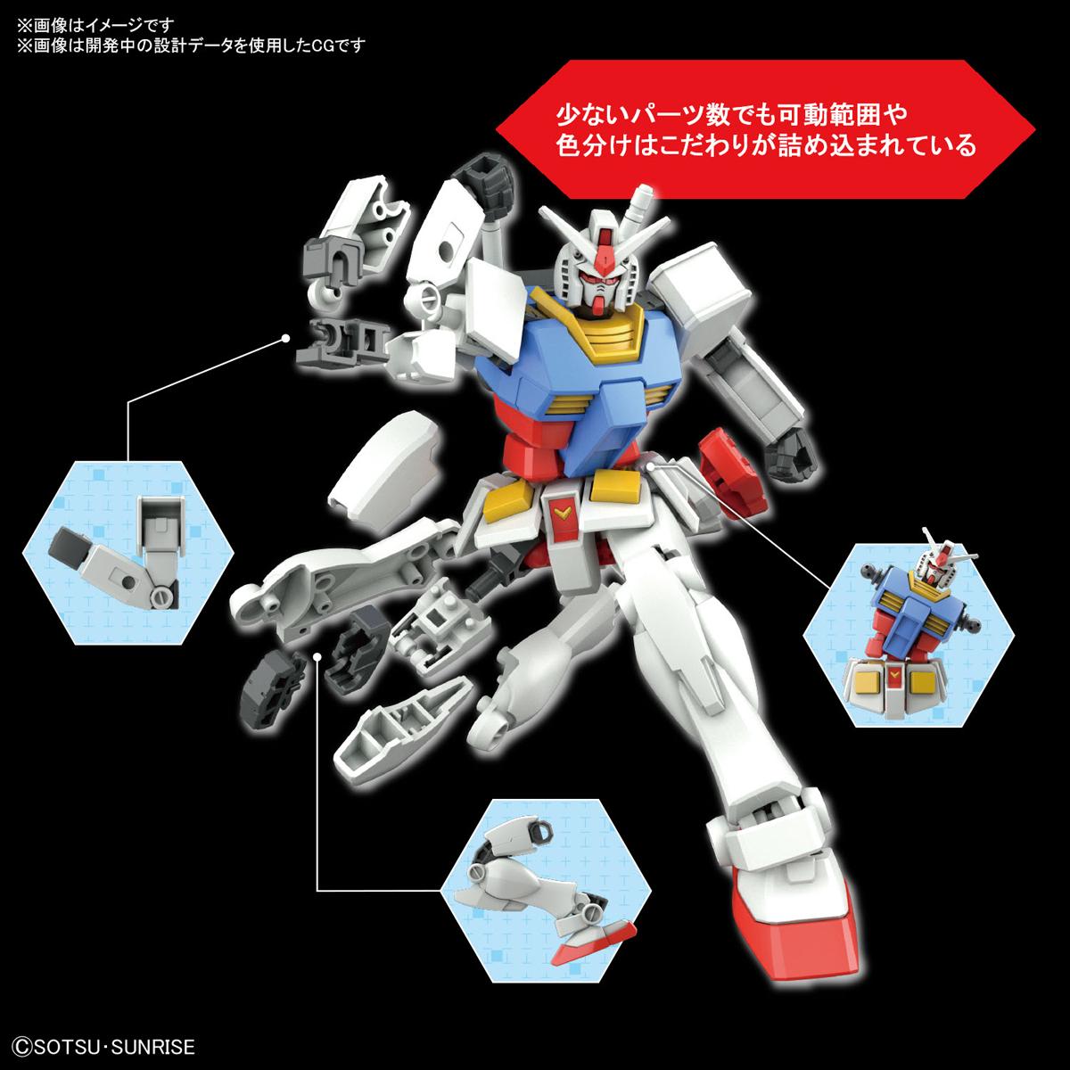 ENTRY GRADE『RX-78-2 ガンダム(ライトパッケージVer.)』1/144 プラモデル-005