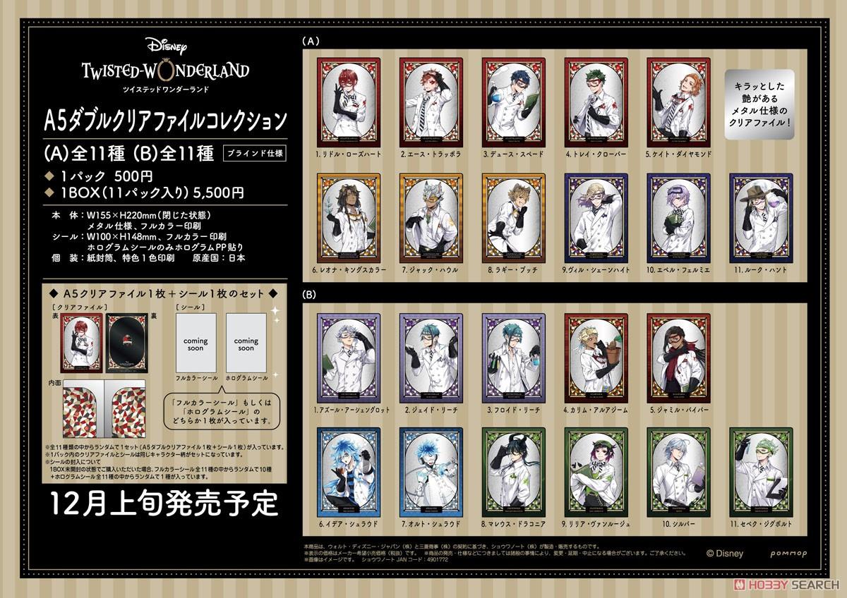 ディズニー ツイステッドワンダーランド『A5ダブルクリアファイルコレクション A』11個入りBOX-026