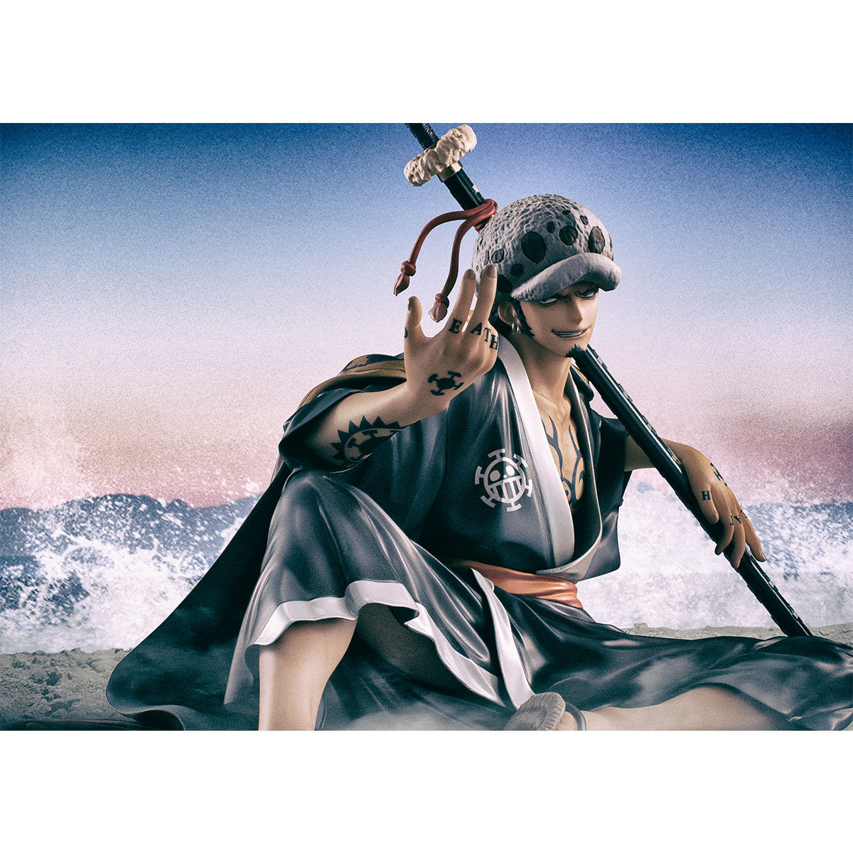"""【限定販売】Portrait.Of.Pirates ワンピース """"Warriors Alliance""""『トラファルガー・ロー』完成品フィギュア-010"""