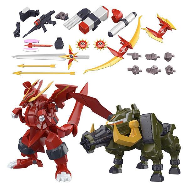 【限定販売】【食玩】スーパーミニプラ『GEAR戦士電童 フルアーマー電童オプションパーツ&ガトリングボア&ドラゴンフレア』セット