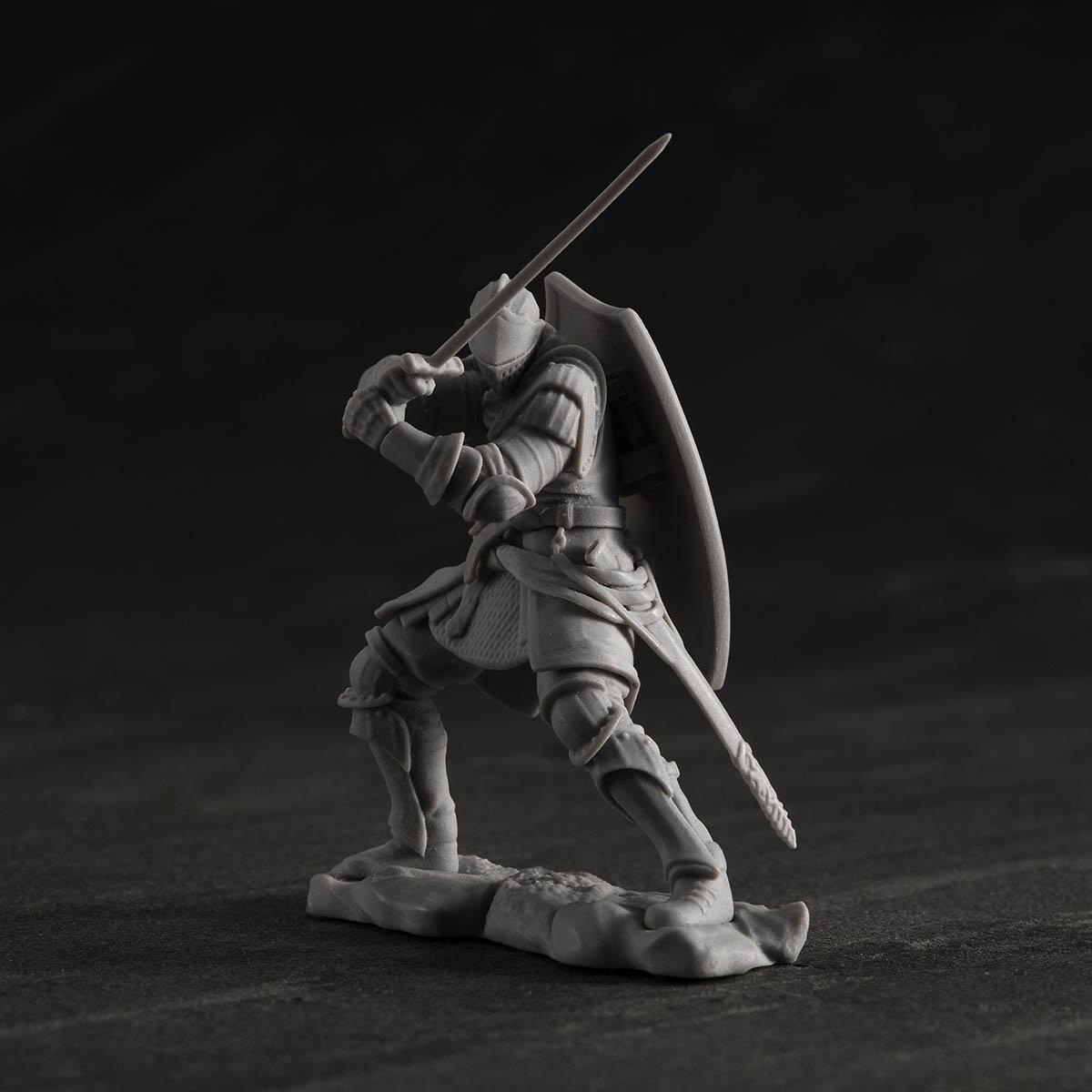 ゲームピースコレクション『DARK SOULS 上級騎士&混沌の魔女クラーグ』無塗装組立てキット-006